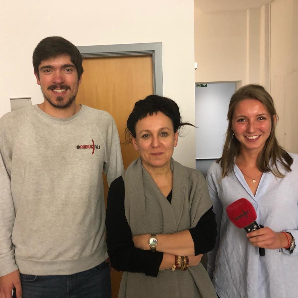 Olga Tokarczuk im Radius 92.1 Interview